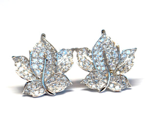 Leaf Diamond Earrings SOLD OUT(15 Days to Remake)