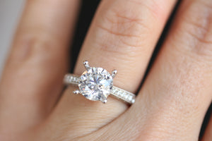 diamondaire diamond engagement ring