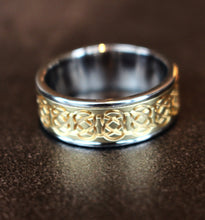 Diamondaire Mens Two-Tone Celtic Ring