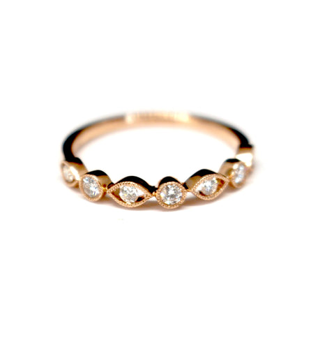 Diamondaire Diamond Stackable Ring 14kt Rose Gold