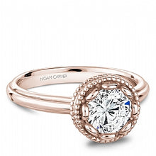 Rose gold solitaire for Round diamond