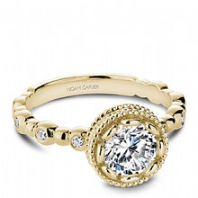 yellow old bezel set round diamond engagement ring