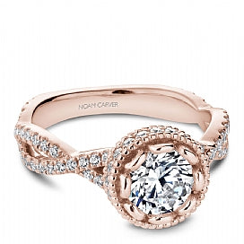 rose gold infinity engagement ring