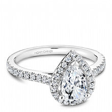 Shared Prong Halo Engagement Ring R050-03WM