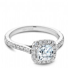 Shared Prong Halo Engagement Ring R050-05WM
