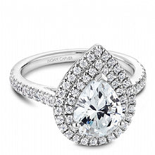 double halo pear shaped engagement ring