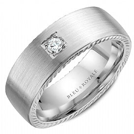 Men's Wedding Band RYL-090WD8 White Gold