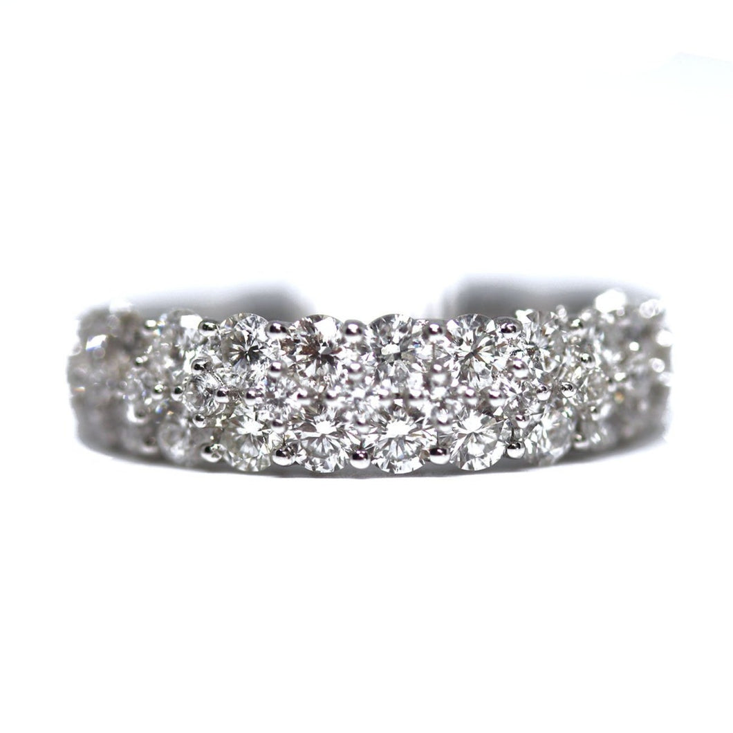 3 Row Graduated Diamond Wedding Band