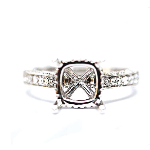 14K White Gold Diamonds All Around Diamondaire Engagement Ring