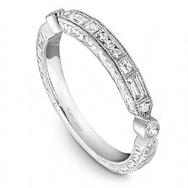 Decorative Baguette and Round Diamond Stackable STC1-4WME