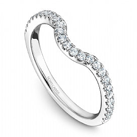 Curved Diamond Wedding Band Stackable STE1-3WM