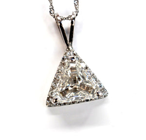 Trillion Diamond Halo Pendant