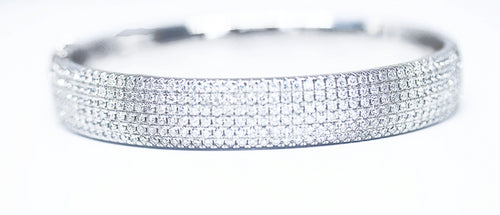 Thick Pave Diamond Bangle SOLD OUT(20 Days to Remake)
