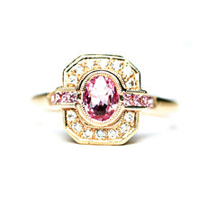 Beverly K Oval Cut Pink Sapphire Ring in 14kt yellow Gold