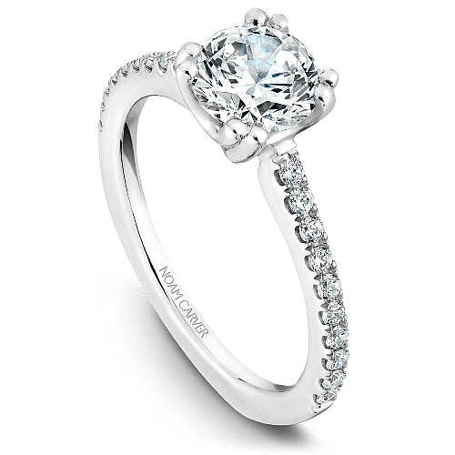 Shared Prong Engagement Ring B001-01WM