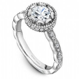 Shared Prong Engagement Ring R013-01WM