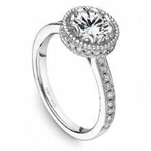 Channel Set Engagement Ring R012-01WM