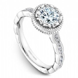 Shared Prong Engagement Ring R003-01WM