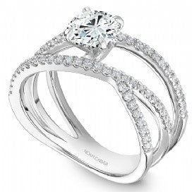 Shared Prong Engagement Ring B249-01WM