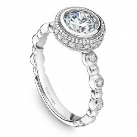 Channel Set Engagement Ring R019-01WM