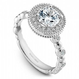 Shared Prong Engagement Ring R024-01WM