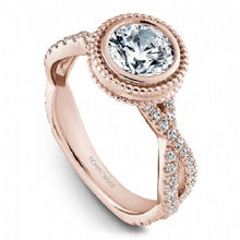 rose gold noam carver braided engagement ring