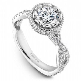 Shared Prong Engagement Ring R015-01WM