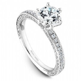 Shared Prong Engagement Ring R049-01WM