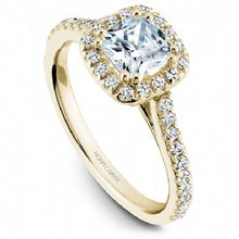 Shared Prong Halo Engagement Ring R050-05YM