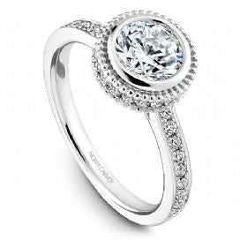 Channel Set Engagement Ring R017-01WM