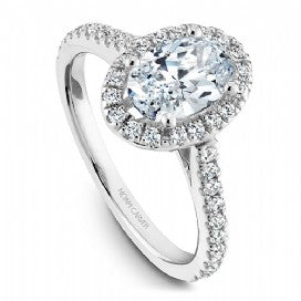 Shared Prong Halo Engagement Ring R050-02WM