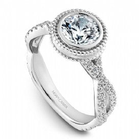 Shared Prong Engagement Ring R010-01WM