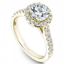 yellow gold diamond halo engagement ring
