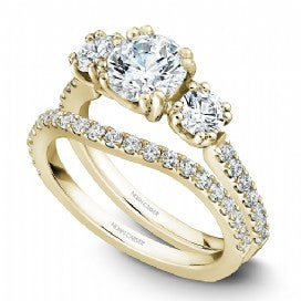 3-Stone Shared Prong Engagement Ring B001-05YM