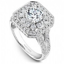 Shared Prong Halo Engagement Ring B158-01WM
