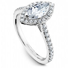 Shared Prong Halo Engagement Ring R050-07WM