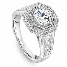 Shared Prong Halo Engagement Ring B244-01WM