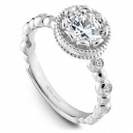 Channel Set Engagement Ring R004-01WM