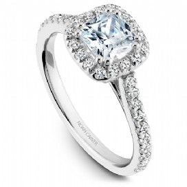 diamond  cushion cut halo engagement ring