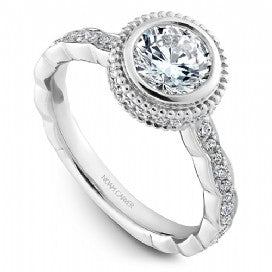 Shared Prong Engagement Ring R018-01WM
