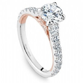 Shared Prong Engagement Ring B332-01WRM