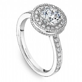 Shared Prong Engagement Ring R022-01WM