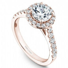 Shared Prong Halo Engagement Ring B168-01RM