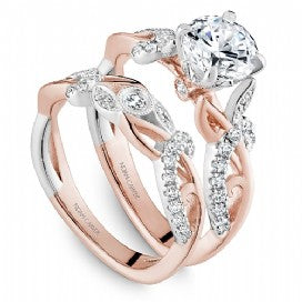 decorative two-tone engagement ring noam carver