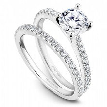 Shared Prong Engagement Ring R046-01WM