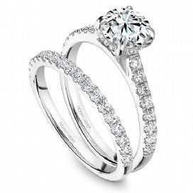engagement ring with diamond head