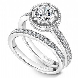 Shared Prong Engagement Ring R002-01WM