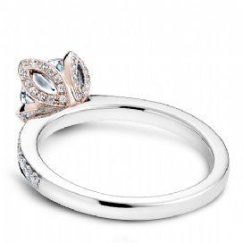 Shared Prong Two-Toned Engagement Ring B019-01WRM
