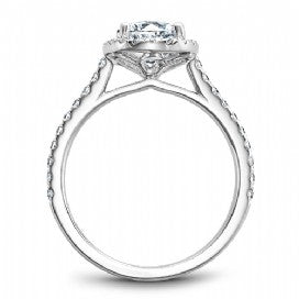 Shared Prong Halo Engagement Ring R050-01WM