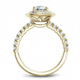 Shared Prong Halo Engagement Ring B222-01YM